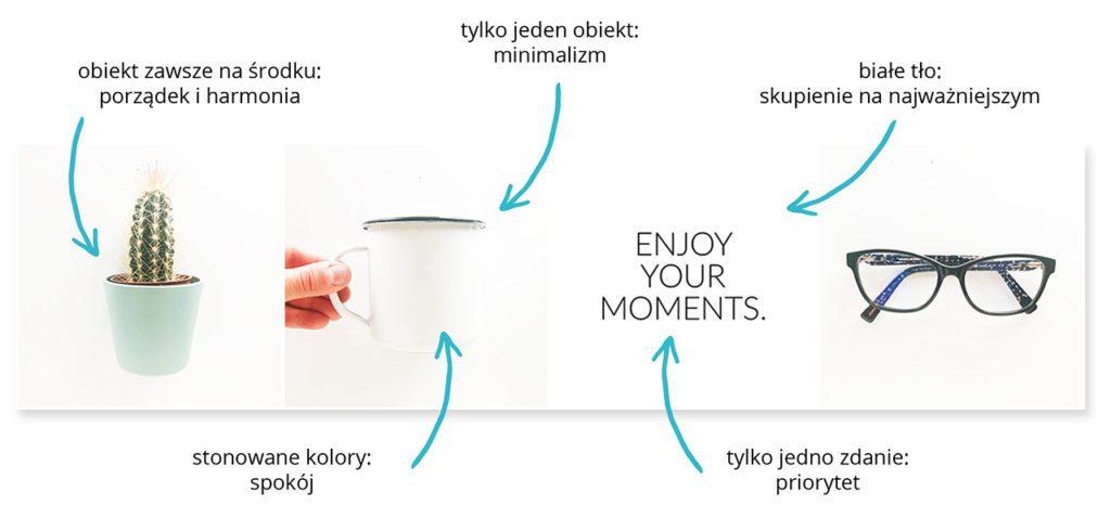 wizerunek marki spójny instagram minimalizm